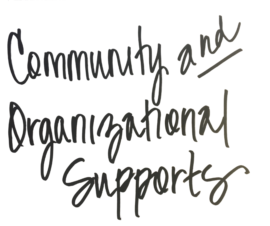 community and organizational supports